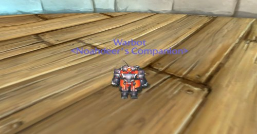 The Warbot as quickly become my favorite pet ingame